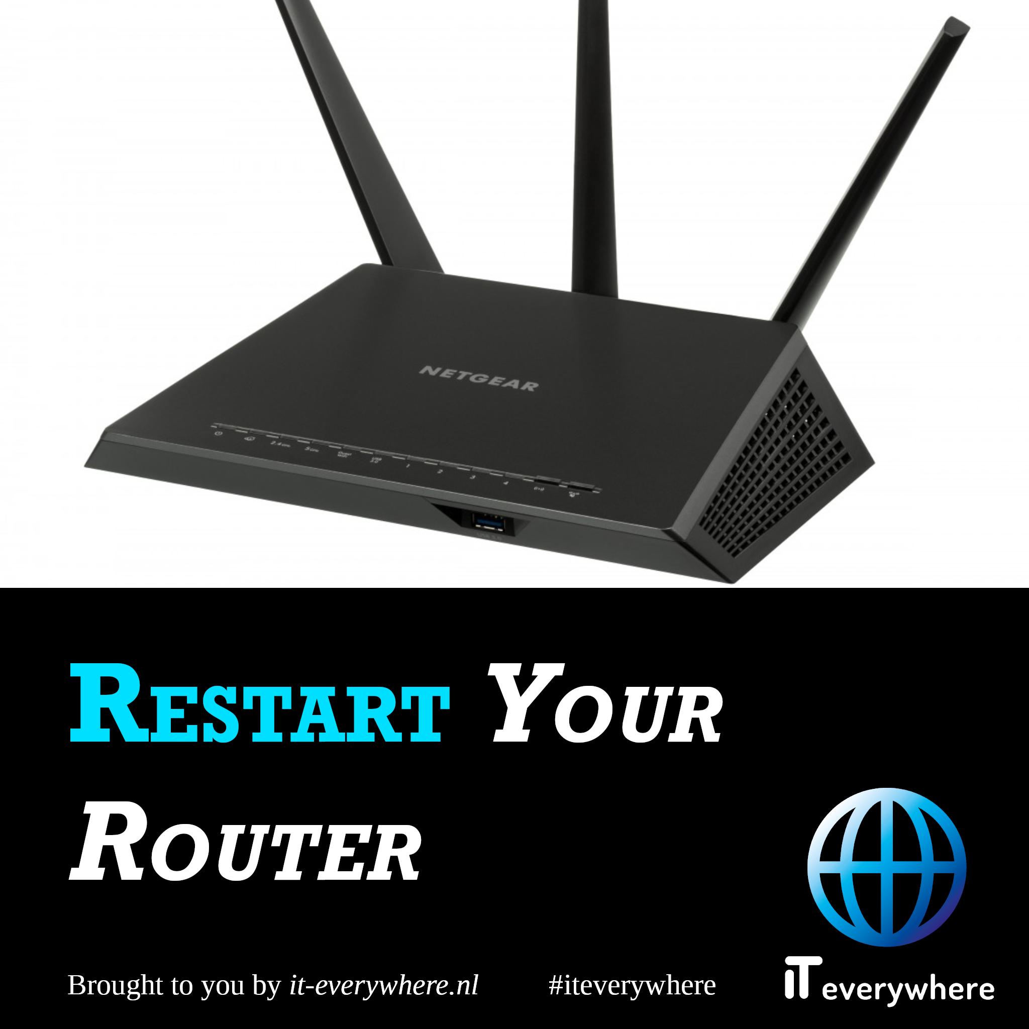 Restart Router