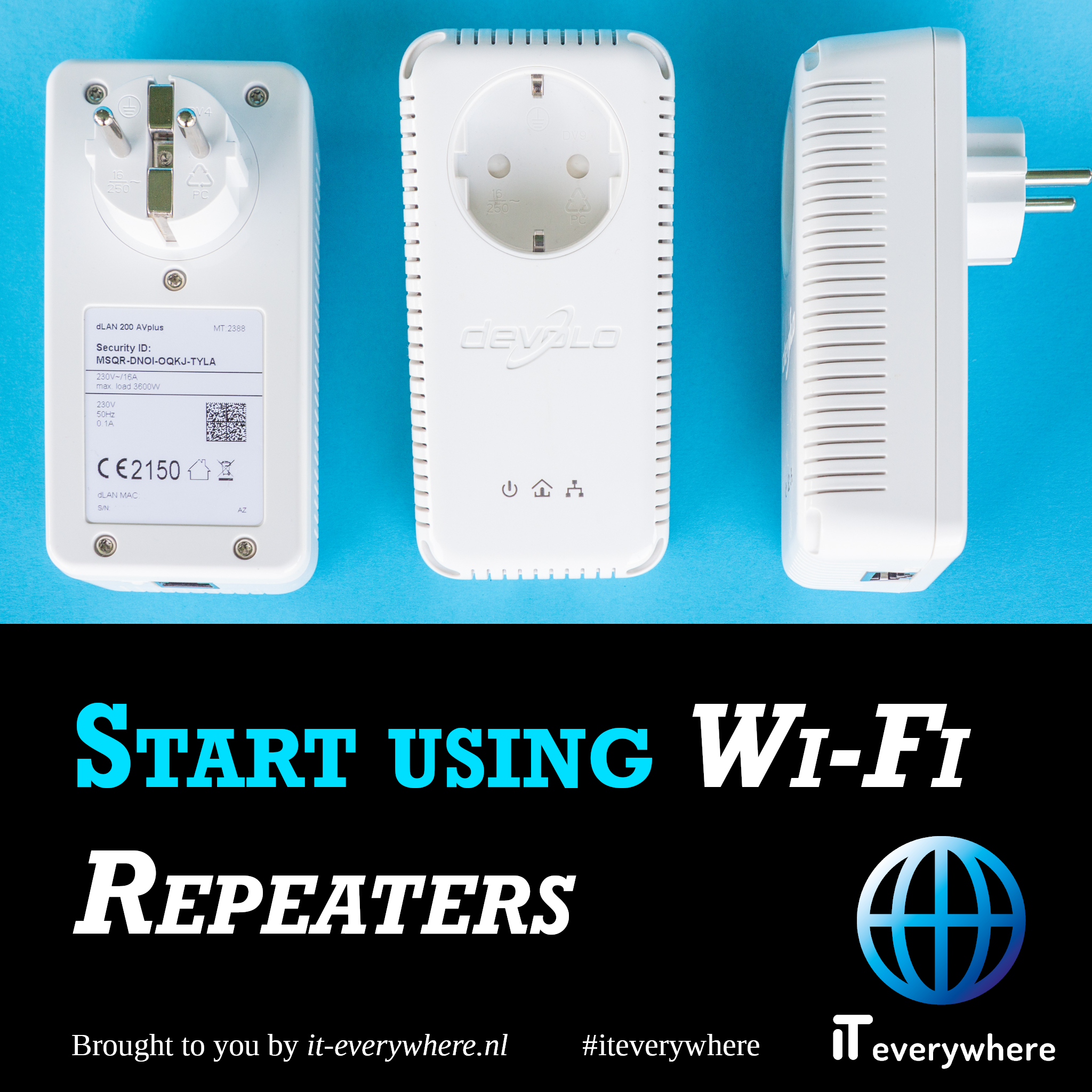 Schaf Wi-Fi repeaters aan