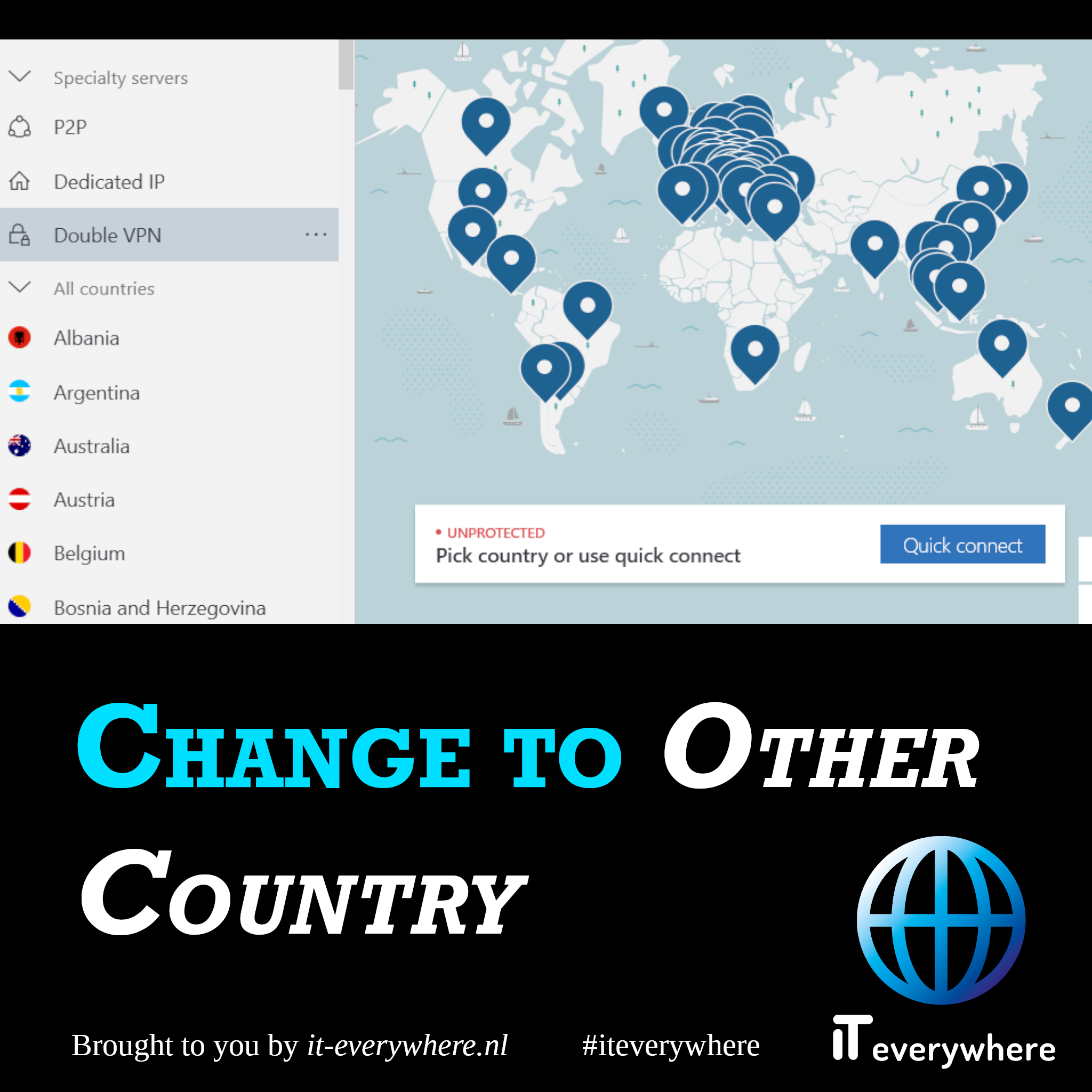 Krijg een IP adres uit een ander land