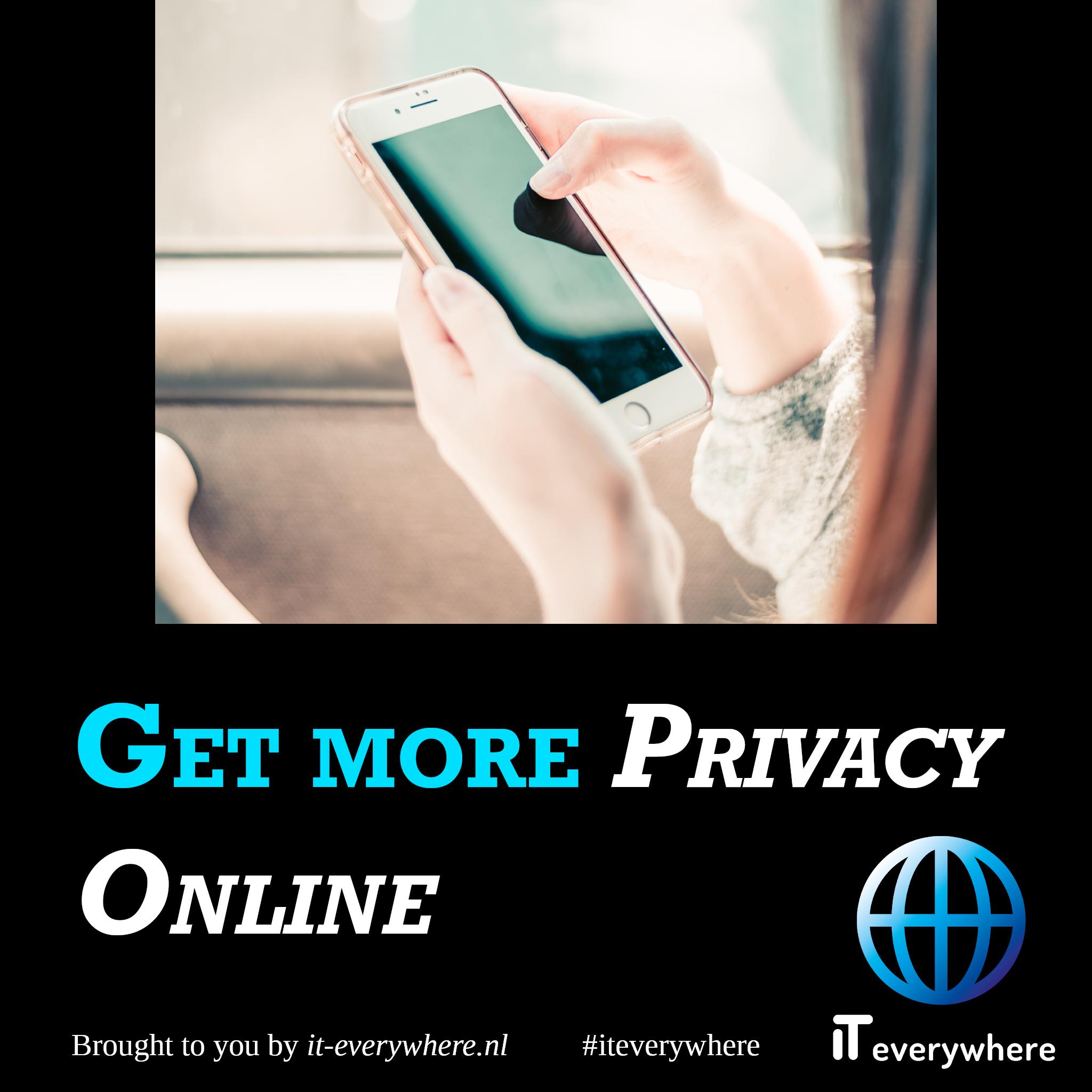 Behoud meer privacy online