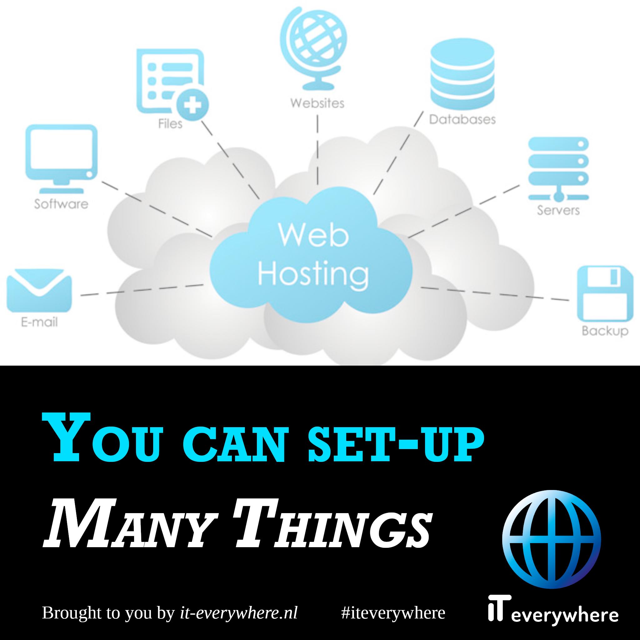 Je kan veel dingen opzetten op een VPS zoals databases, servers, websites, software en meer