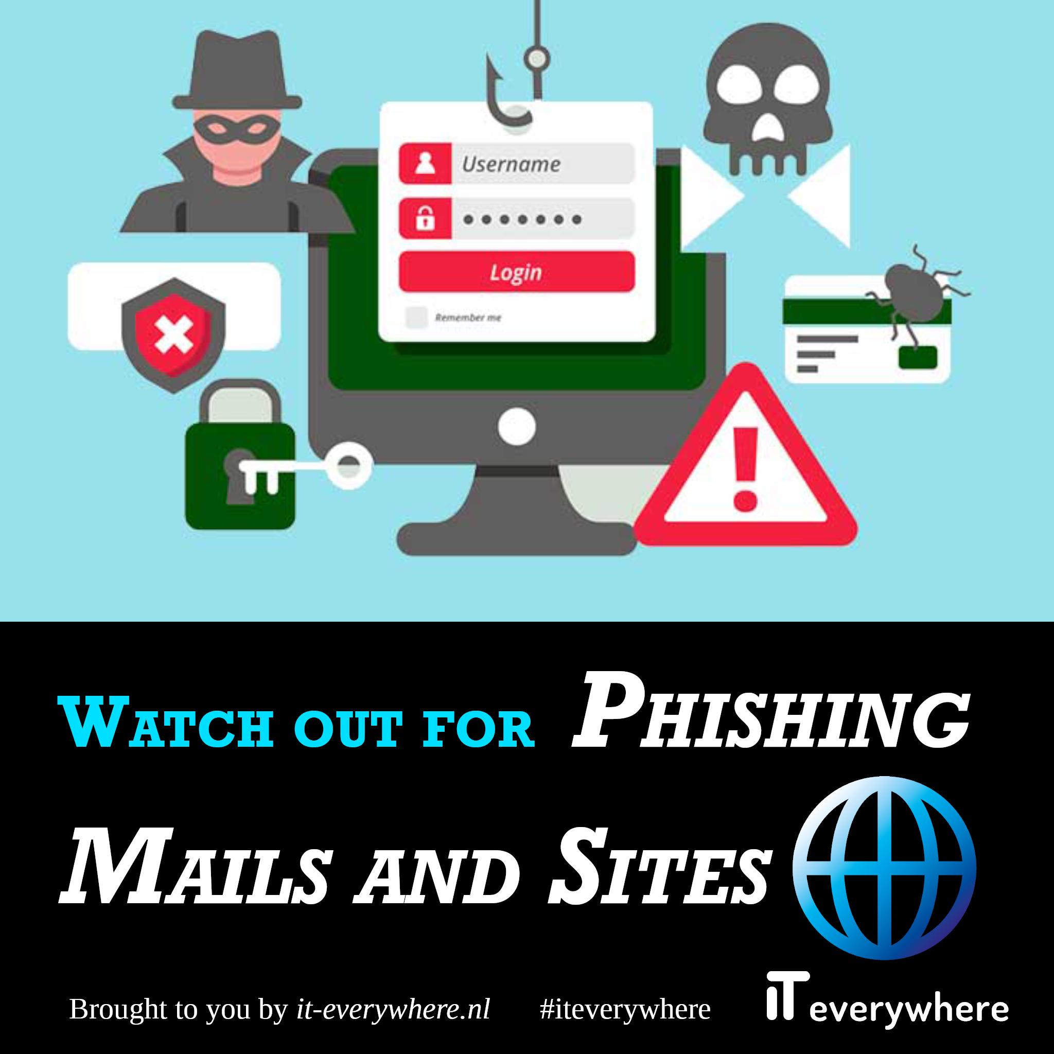 Kijk uit voor phishingmails en -sites